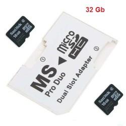 Cartão de memória 32GB Pro Duo para PSP