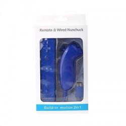 Comando Wii c/ Wii Motion Plus + Nunchuck Azul