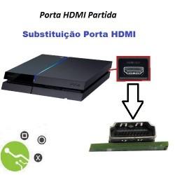 Serviço de substituição porta HDMI em Consola PS4