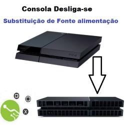 Serviço de substituição fonte de alimentação em Consola PS4