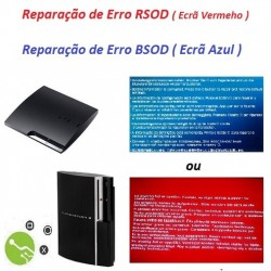 Serviço de Reparação Ecrã Vermelho Consola PS3