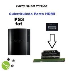 Serviço de substituição porta HDMI em Consola PS3 Fat