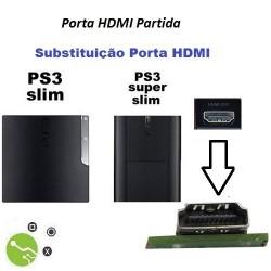Serviço de substituição porta HDMI em Consola PS3 Slim