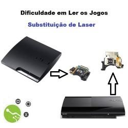 Serviço de Reparação Dificuldade Leitura Consola PS3 Slim e Ultra Slim