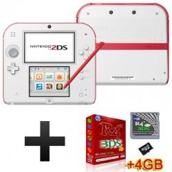 Consola Nintendo 2DS (Branco/Vermelho) + R4i RTS 4GB