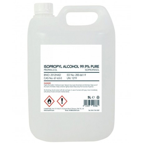 Álcool Isopropílico (Isopropanol) p/Limpeza 5L